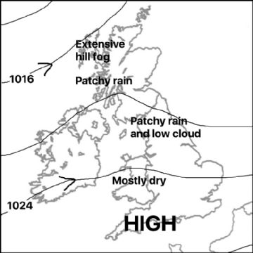 Synoptic chart for 08 Mar