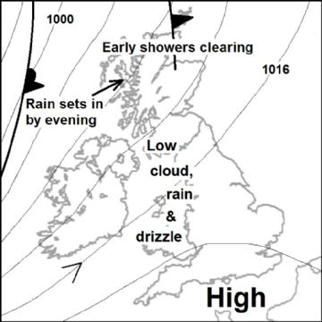 Synoptic chart for 09 Mar