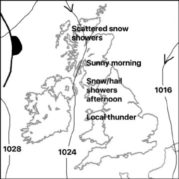 Synoptic chart for 11 Apr